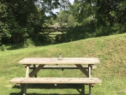 Your own picnic table to eat and view the wildlife